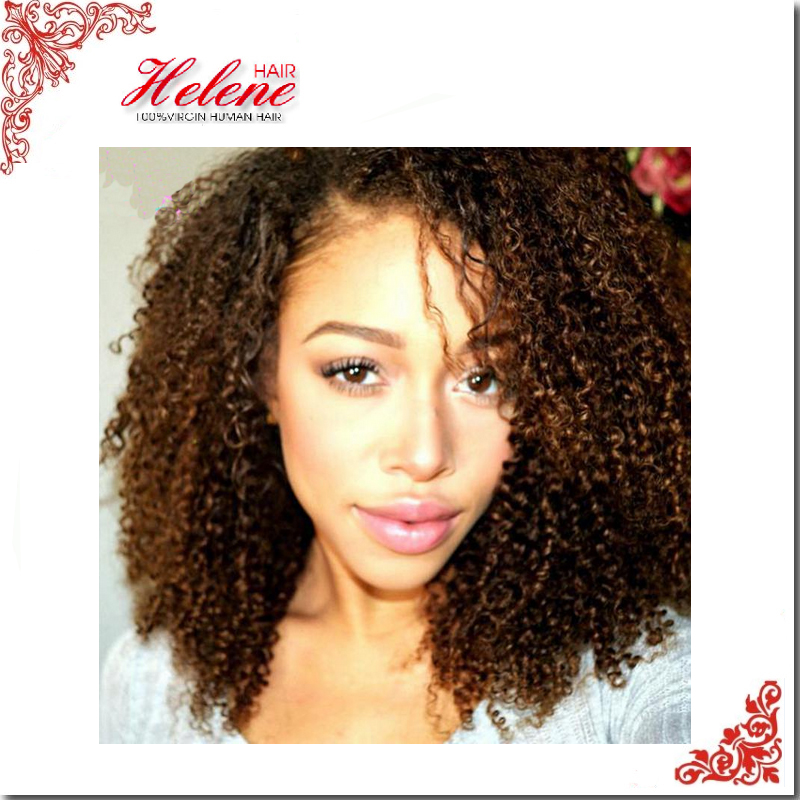Hot Sale Glueless full lace wig & front lace wig Pop Kinky Curly Malaysian virgin hair with baby hair for black women u part wig