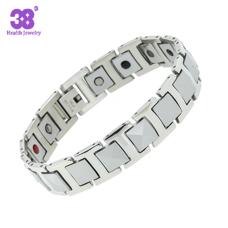 Top sale ! Healing Magnetic Bracelet for Men/Woman 316L Stainless Steel Health Care magnetic silver Bracelet Hand Chain от Aliexpress INT