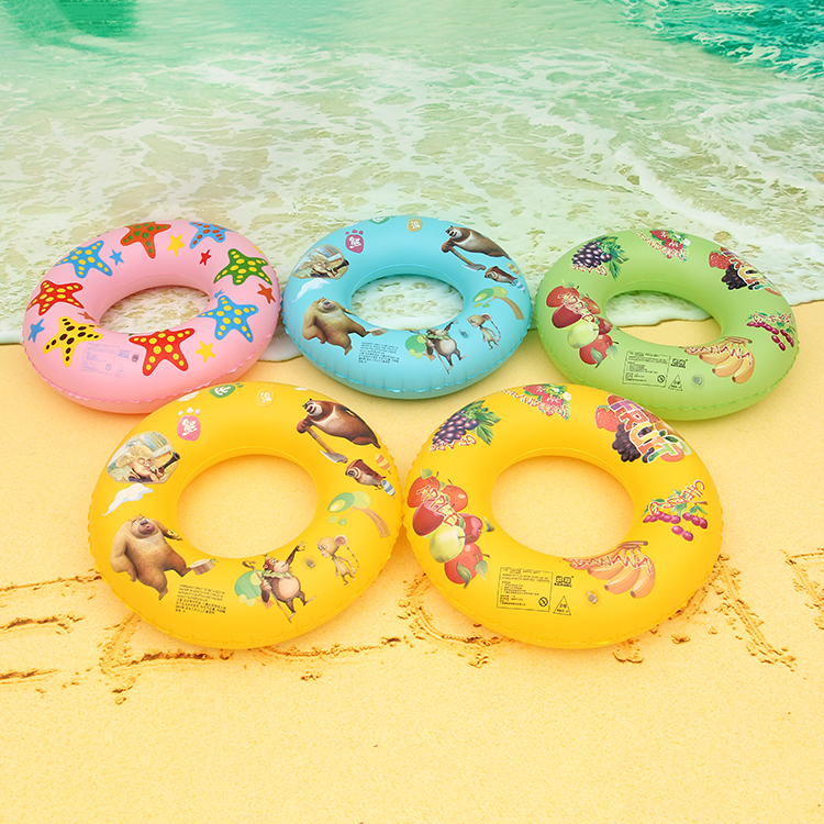 Sweet Cartoon Pattern Swimming Ring Inflatable Water Lap Floats pool For Swim Beginners Seaside Beach Accessories Sports Toy(China (Mainland))