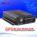 cctv security surveillance car dvr h 264 gps tracker 4ch mobile digital video recorder with sd