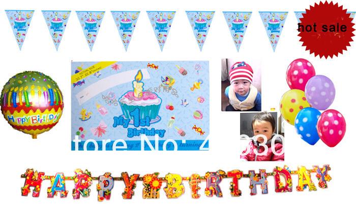 1 летних младенцы день рождения украшение, Мой 1 ый день рождения ...