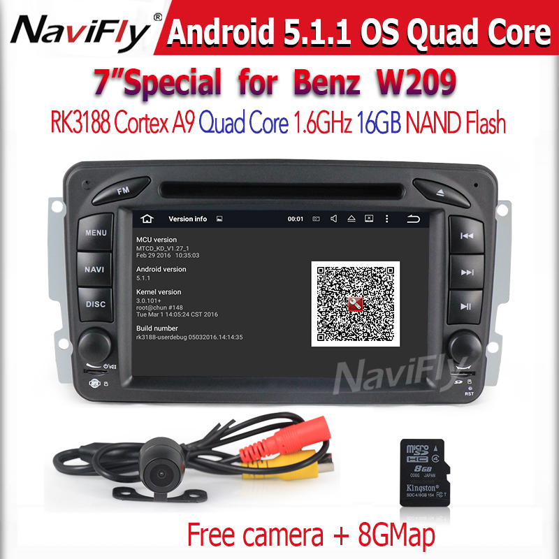 1024*600 Android 5.1.1 Quad Core Car DVD GPS For Benz A C G Class CLK M ML W203 Viano Vito W693 W463 W209 W208 Stereo(China (Mainland))