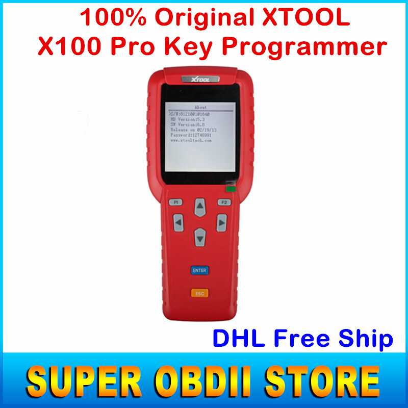 2016 Original X100 Pro X 100 Key Programmer X-100 X100 Plus Auto Car Key Maker Update Online For Multi-brands DHL Free Ship(China (Mainland))