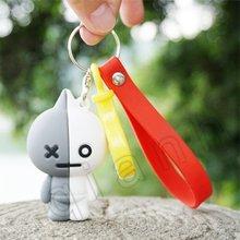 2019 3D Pudim de Doce Bonito My Melody Olá Kitty Chaveiro Bola De Pêlo De Cão Cinnamoroll Plush Chaveiro Saco Chaveiro Pingente para(China)