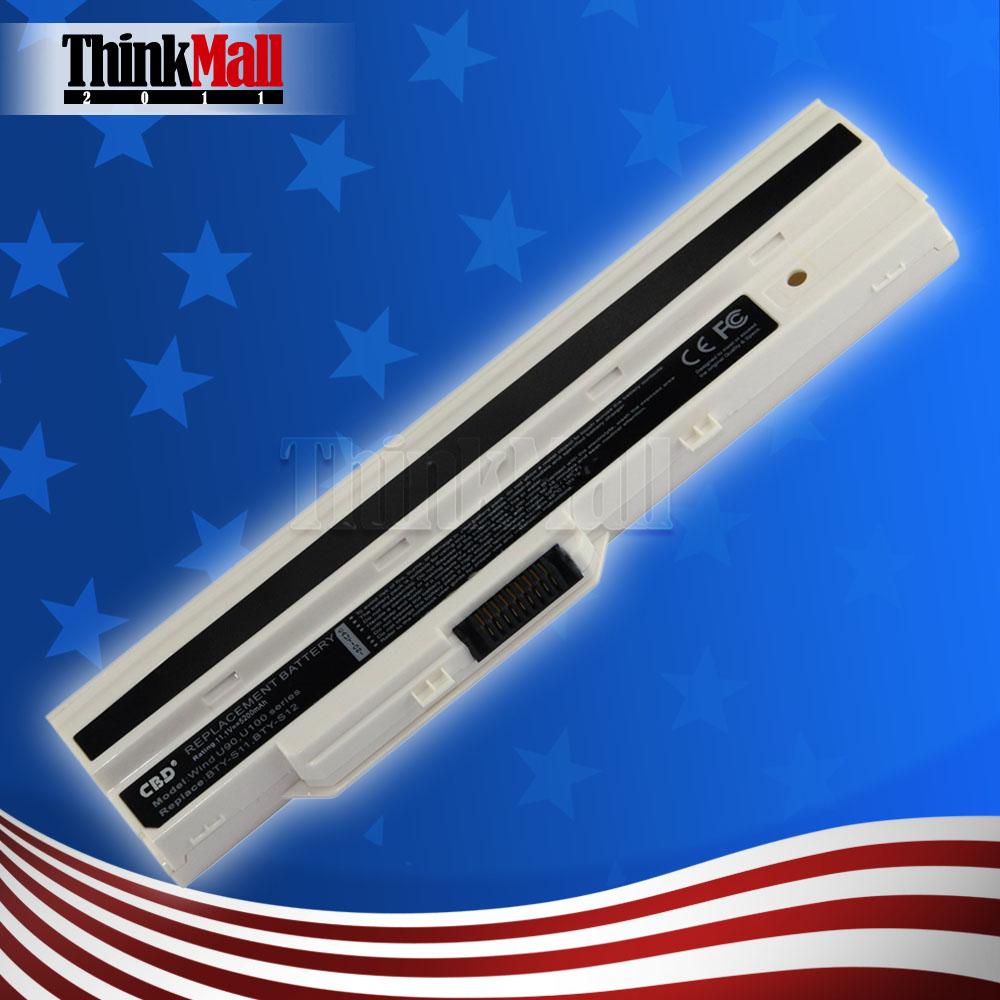 Laptop Battery For MSI Wind U90 U90X U100 U100X MS-N011 U100W-085NL Proline U100 Roverbook Neo U100 Advent 4211 BTY-S11(China (Mainland))