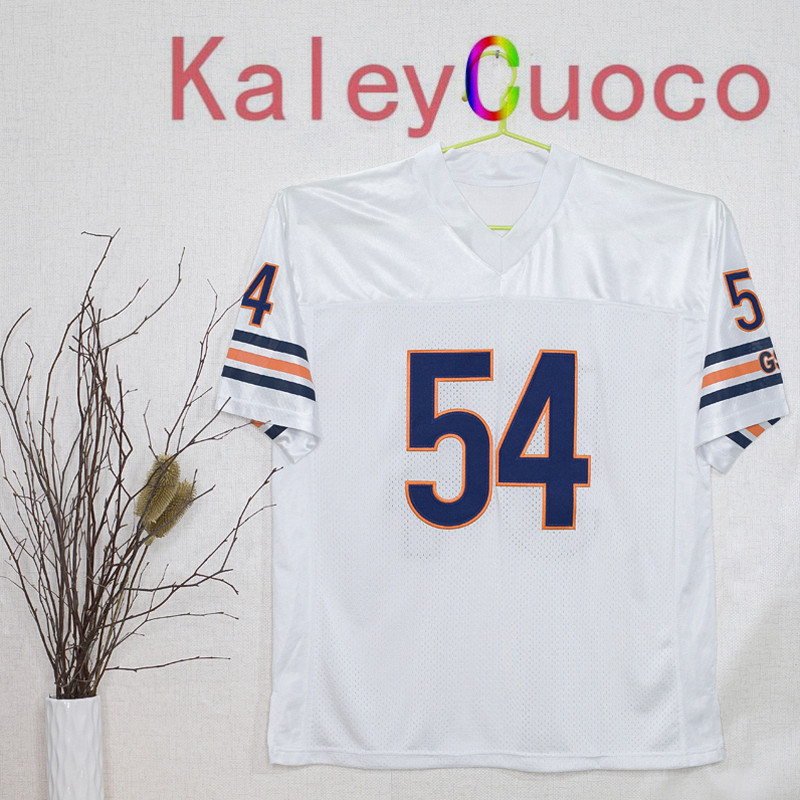 Retro star #54 Brian Urlacher Embroidered Throwback Football Jersey M&N 48 50 52 54 56 Jerseys(China (Mainland))